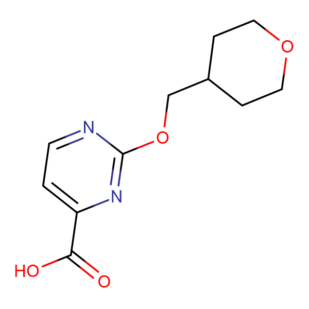 2-[(Tetrahydro-2H-pyran-4-yl)methoxy]pyrimidine-4-carboxylic acid