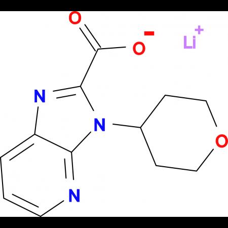 Lithium 3-(tetrahydro-2H-pyran-4-yl)-3H-imidazo[4,5-b]pyridine-2-carboxylate