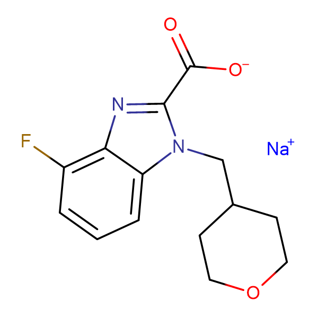 Sodium 4-fluoro-1-[(tetrahydro-2H-pyran-4-yl)methyl]-1H-benzo[d]imidazole-2-carboxylate
