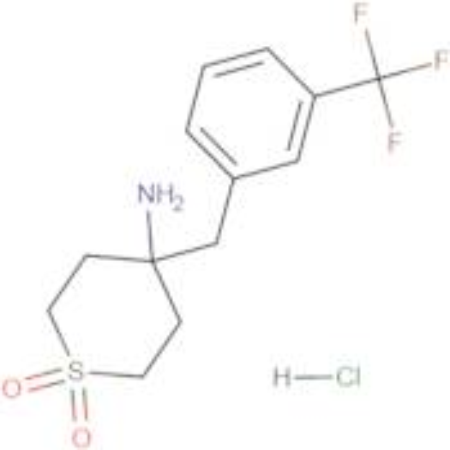 4-Amino-4-{[3-(trifluoromethyl)phenyl]methyl}-1lambda(6)-thiane-1,1-dione hydrochloride