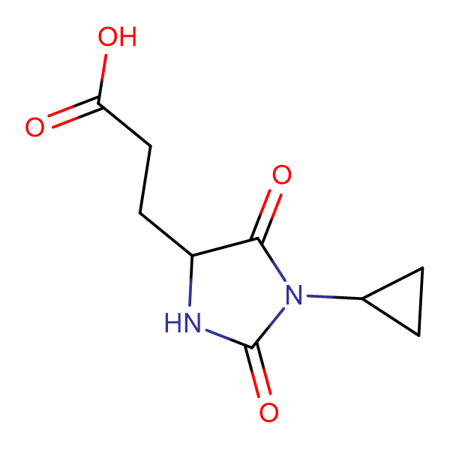 3-(1-Cyclopropyl-2,5-dioxo-imidazolidin-4-yl)-propionic acid