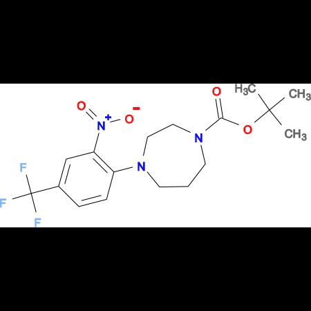 4-(2-Nitro-4-trifluoromethyl-phenyl)-[1,4]diazepane-1-carboxylic acidtert-butylester