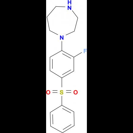 1-[(2-FLUORO-4-PHENYLSULFONYL)PHENYL]-HOMOPIPERAZINE