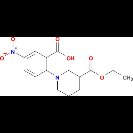 2-[3-(ETHOXYCARBONYL)PIPERIDIN-1-YL]-5-NITROBENZOIC ACID
