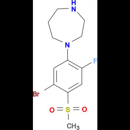 1-[(5-BROMO-2-FLUORO-4-METHYLSULFONYL)PHENYL]-HOMOPIPERAZINE