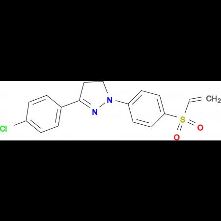 3-(4-CHLORO-PHENYL)-1-(4-ETHENESULFONYL-PHENYL)-4,5-DIHYDRO-1H-PYRAZOLE