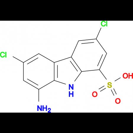 8-AMINO-3,6-DICHLORO-9H-CARBAZOLE-1-SULFONIC ACID