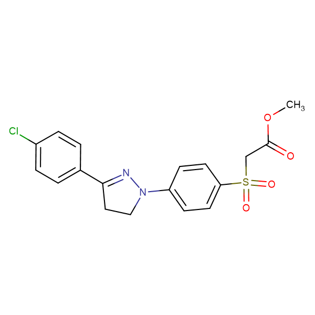 (4-[3-(4-CHLORO-PHENYL)-4,5-DIHYDRO-PYRAZOL-1-YL]-BENZENESULFONYL)-ACETIC ACID METHYL ESTER
