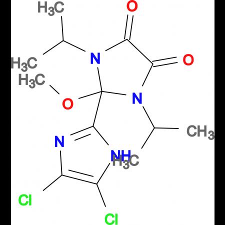 4',5'-DICHLORO-1,3-DIISOPROPYL-2-METHOXY-2,3-DIHYDRO-1H,1'H-[2,2']BIIMIDAZOLYL-4,5-DIONE