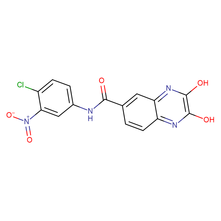 2,3-Dihydroxy-quinoxaline-6-carboxylic acid (4-chloro-3-nitro-phenyl)-amide