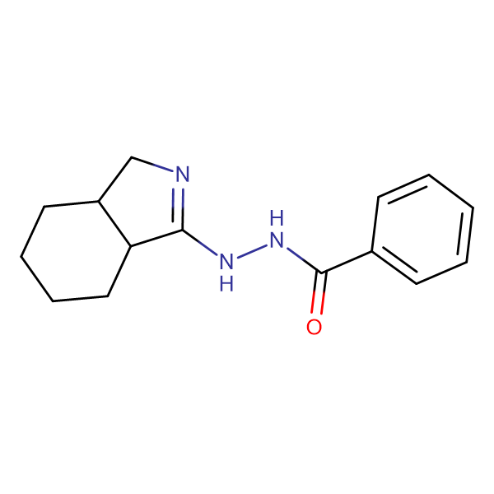 Benzoic acid N'-(3a,4,5,6,7,7a-hexahydro-3H-isoindol-1-yl)-hydrazide