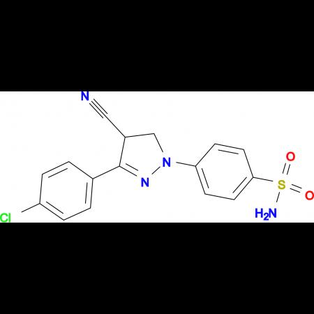4-[3-(4-Chloro-phenyl)-4-cyano-4,5-dihydro-pyrazol-1-yl]-benzenesulfonamide