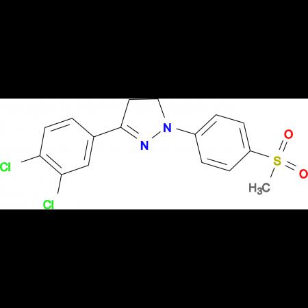 3-(3,4-Dichloro-phenyl)-1-(4-methanesulfonyl-phenyl)-4,5-dihydro-1H-pyrazole