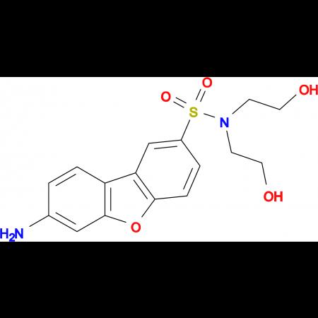7-Amino-dibenzofuran-2-sulfonic acid bis-(2-hydroxy-ethyl)-amide