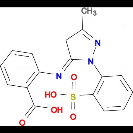 2-[5-Methyl-2-(2-sulfo-phenyl)-2,4-dihydro-pyrazol-3-ylideneamino]-benzoic acid