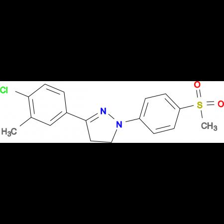 3-(4-Chloro-3-methyl-phenyl)-1-(4-methanesulfonyl-phenyl)-4,5-dihydro-1H-pyrazole