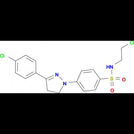 N-(2-CHLORO-ETHYL)-4-[3-(4-CHLORO-PHENYL)-4,5-DIHYDRO-PYRAZOL-1-YL]-BENZENESULFONAMIDE