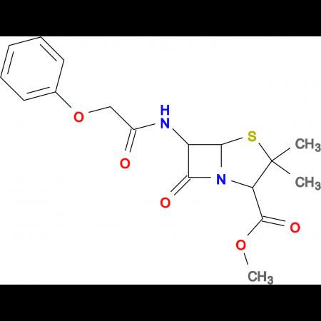 3,3-Dimethyl-7-oxo-6-(2-phenoxy-acetylamino)-4-thia-1-aza-bicyclo[3.2.0]heptane-2-carboxylic acid methyl ester