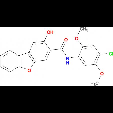 2-Hydroxy-dibenzofuran-3-carboxylic acid (4-chloro-2,5-dimethoxy-phenyl)-amide
