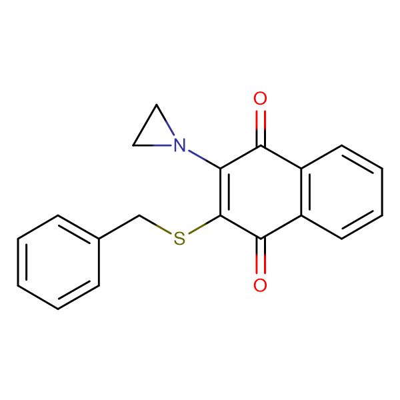 2-Aziridin-1-yl-3-benzylsulfanyl-[1,4]naphthoquinone