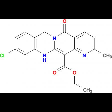 9-Chloro-2-methyl-5-oxo-6,11-dihydro-5H-1,5a,11-triaza-naphthacene-12-carboxylic acid ethyl ester