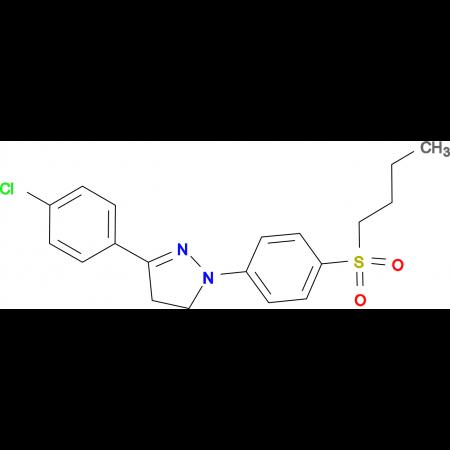 1-[4-(Butane-1-sulfonyl)-phenyl]-3-(4-chloro-phenyl)-4,5-dihydro-1H-pyrazole