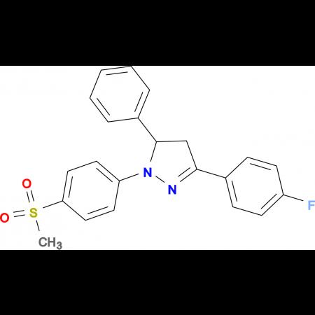 3-(4-Fluoro-phenyl)-1-(4-methanesulfonyl-phenyl)-5-phenyl-4,5-dihydro-1H-pyrazole