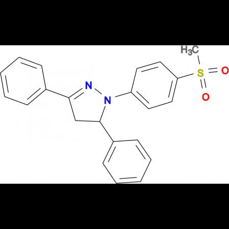 1-(4-Methanesulfonyl-phenyl)-3,5-diphenyl-4,5-dihydro-1H-pyrazole