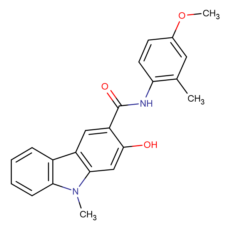 2-Hydroxy-9-methyl-9H-carbazole-3-carboxylic acid (4-methoxy-2-methyl-phenyl)-amide