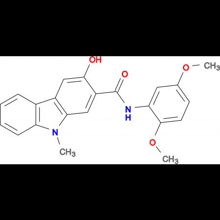 3-Hydroxy-9-methyl-9H-carbazole-2-carboxylic acid (2,5-dimethoxy-phenyl)-amide