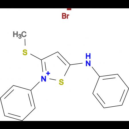 3-Methylsulfanyl-2-phenyl-5-phenylamino-isothiazol-2-ium; bromide