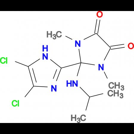 4',5'-Dichloro-2-isopropylamino-1,3-dimethyl-2,3-dihydro-1H,1'H-[2,2']biimidazolyl-4,5-dione