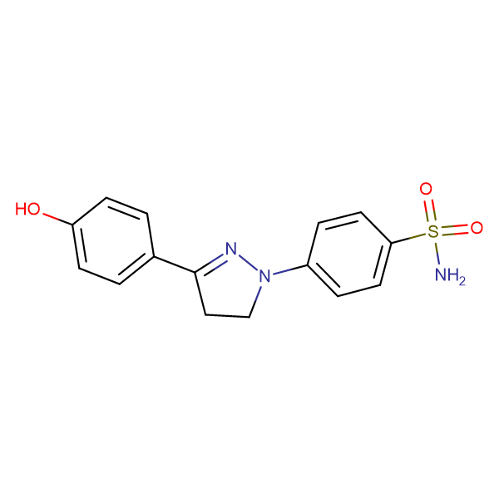 4-[3-(4-Hydroxy-phenyl)-4,5-dihydro-pyrazol-1-yl]-benzenesulfonamide