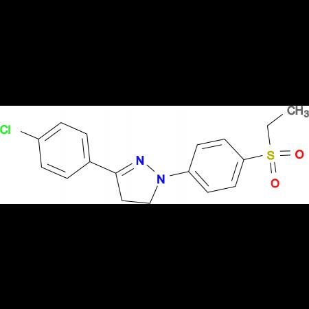 3-(4-Chlorophenyl)-1-(4-ethanesulfonylphenyl)-4,5-dihydro-1H-pyrazole