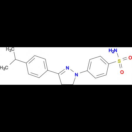 4-[3-(4-Isopropyl-phenyl)-4,5-dihydro-pyrazol-1-yl]-benzenesulfonamide