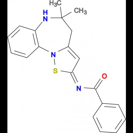 N-(5,5-Dimethyl-5,6-dihydro-4H-1-thia-6,10b-diaza-benzo[e]azulen-2-ylidene)-benzamide