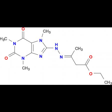 3-[(1,3,7-Trimethyl-2,6-dioxo-2,3,6,7-tetrahydro-1H-purin-8-yl)-hydrazono]-butyric acid ethyl ester
