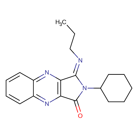 2-Cyclohexyl-3-propylimino-2,3-dihydro-pyrrolo[3,4-b]quinoxalin-1-one