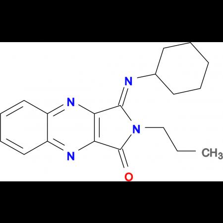 3-Cyclohexylimino-2-propyl-2,3-dihydro-pyrrolo[3,4-b]quinoxalin-1-one