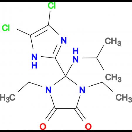 4',5'-Dichloro-1,3-diethyl-2-isopropylamino-2,3-dihydro-1H,1'H-[2,2']biimidazolyl-4,5-dione
