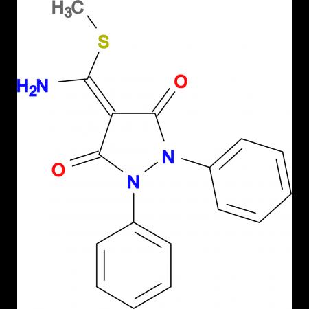 4-(Amino-methylsulfanyl-methylene)-1,2-diphenyl-pyrazolidine-3,5-dione