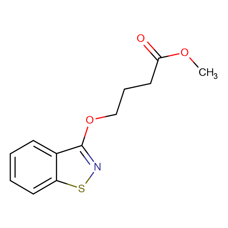 4-(Benzo[d]isothiazol-3-yloxy)-butyric acid methyl ester
