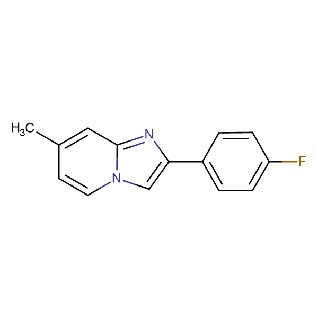 2-(4-Fluoro-phenyl)-7-methyl-1H-imidazo[1,2-a]pyridine
