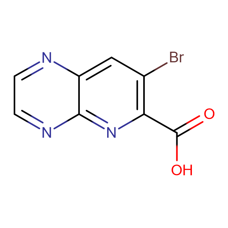 7-Bromopyrido[2,3-b]pyrazine-6-carboxylic acid