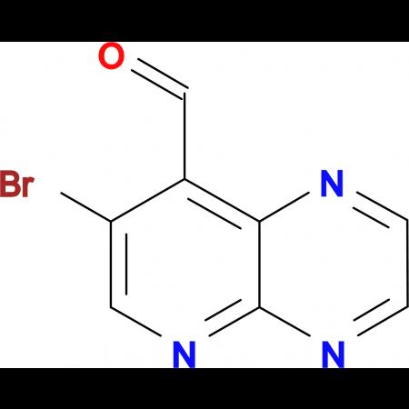 7-bromopyrido[2,3-b]pyrazine-8-carbaldehyde
