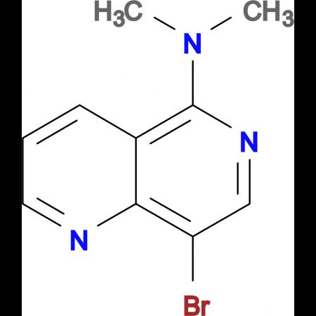 8-bromo-N,N-dimethyl-1,6-naphthyridin-5-amine