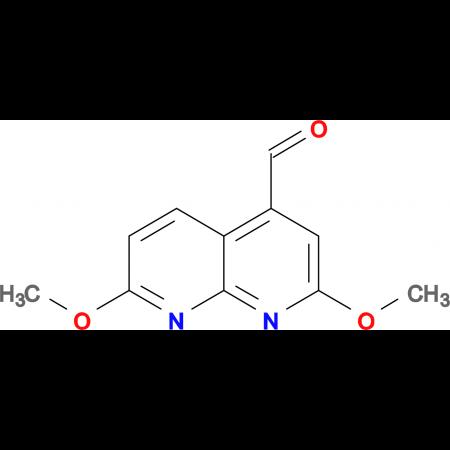 2,7-dimethoxy-1,8-naphthyridine-4-carbaldehyde