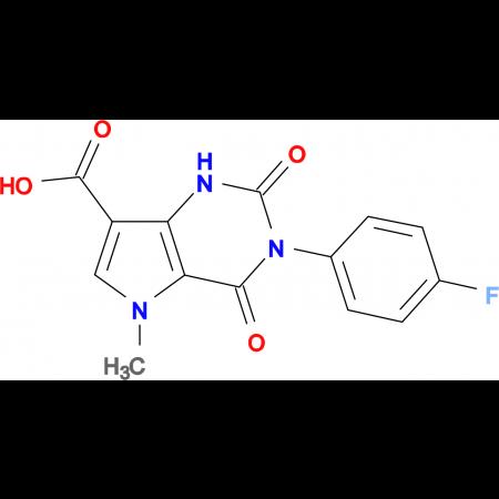 3-(4-fluorophenyl)-5-methyl-2,4-dioxo-2,3,4,5-tetrahydro-1H-pyrrolo[3,2-d]pyrimidine-7-carboxylic acid