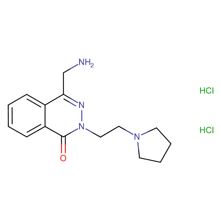 4-(aminomethyl)-2-(2-(pyrrolidin-1-yl)ethyl)phthalazin-1(2H)-one dihydrochloride