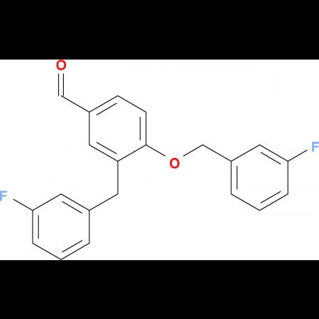 4-[(3-FLUOROPHENYL)METHOXY]-3-[(3-FLUOROPHENYL)METHYL]BENZALDEHYDE